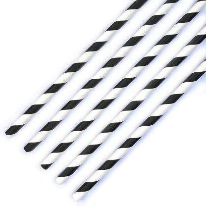 The Conscious Party Box: 5 Black and White Stripe Straws