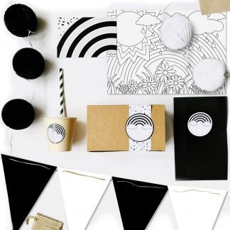 The Conscious Party Box: Monochrome Rainbow Party Box