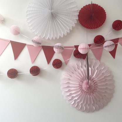 The Conscious Party Box: Large Decoration kit Red Pink White White