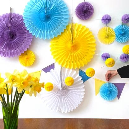 The Conscious Party Box purple blue yellow white large decoration box pack