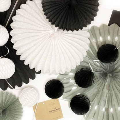 The Conscious Party Box: Small Decoration kit Silver Black White