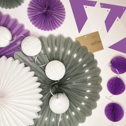 The Conscious Party Box: Small Decoration kit Purple Silver White
