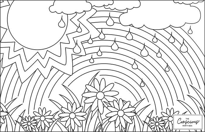 TCPB Rainbow Mindfulness Colouring Sheet